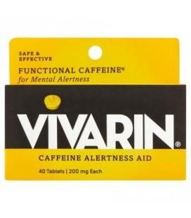 Vivarin La caféine aide Vivacité d'esprit 200mg 40 ct
