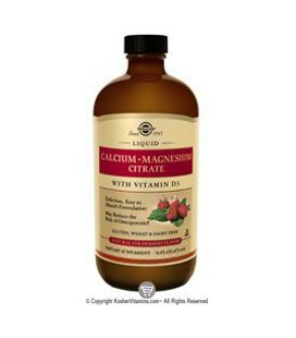 Liquid Calcium Magnesium Citrate with Vitamin D3 - Natural Strawberry Flavor - 16 oz - Liquid