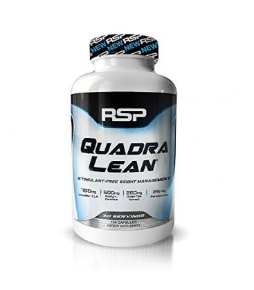 RER QuadraLean Stimulant sans gras pilules brûleur, supplément de perte de poids, Appétit et métabolisme Booster, Diet Pill