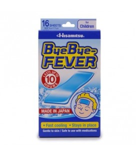 Bye Bye Fever refroidissement Gel Sheet pour les enfants de 16 feuilles 5 x 11 cm
