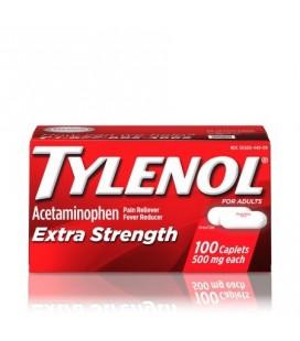 Tylenol ® Caplets Extra-fort la fièvre et la douleur Réducteur releveur 500 mg 100 ct.