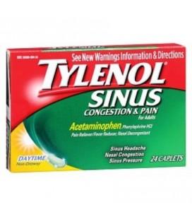 Tylenol Congestion Sinus -amp- Pain Caplets Daytime 24 Caplets (pack de 3)