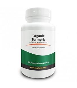 Real Herbs Curcuma Organic Root poudre 745mg avec BioPerine 5mg - Anti-inflammatoires antioxydants et humeur de soutien amélior