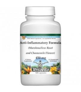 Anti-inflammatoire à la racine de guimauve et fleur de camomille 450 mg -100 Caps (Pack de 2)