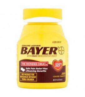 Véritable Bayer Aspirine 325 mg comprimés enrobés 200CT