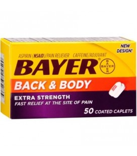 Bayer Aspirine antidouleur Extra Strength Back -amp- Body douleur 50 Ct Caplets