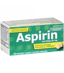 PL DEVELOPMENTS Adulte faible résistance à l'aspirine 81mg comprimés enrobés 60 ct