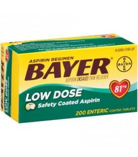 Aspirine Bayer Regimen 81 mg comprimés ENROBAGE 200CT