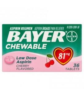 Bayer Aspirine Comprimés à croquer 81 mg -360 Caps