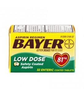 Bayer Aspirine Analgésique Regimen à faible dose entériques comprimés enrobés - 81 mg 320 CT