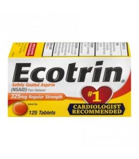 Ecotrin Sécurité comprimés Aspirine Coated 325mg Force régulière - 125 CT