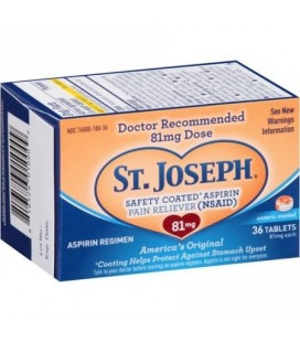 St. Joseph aspirine analgésique comprimés 81 mg 36 Ct