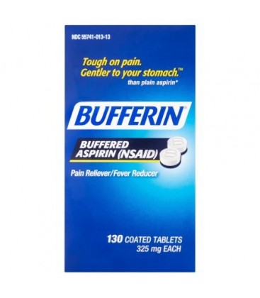Bufferin Buffered aspirine (AINS) des comprimés enrobés 325 mg 130 count