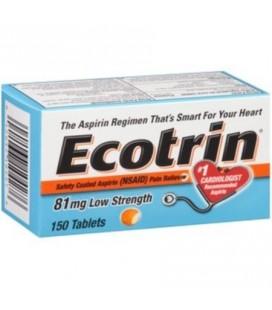 Ecotrin Aspririne 81 mg, 150Caps
