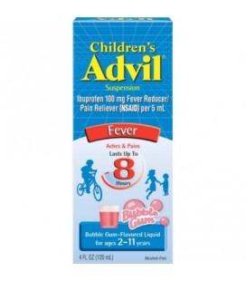Advil Ibuprofène Fever Réducteur - Analgésique suspension orale Bubble Gum 4 oz