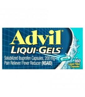 Advil Liqui-Gels (160 Count) anti-douleur - fièvre réducteur liquide remplissant la capsule 200 mg Ibuprofen soulagement de la