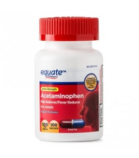 Equate Force supplémentaire Acetaminophen Gelcaps à action rapide 500 mg 100 Ct