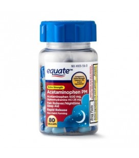 Equate Force supplémentaire PM Acetaminophen Gelcaps à action rapide 500 mg 80 Ct