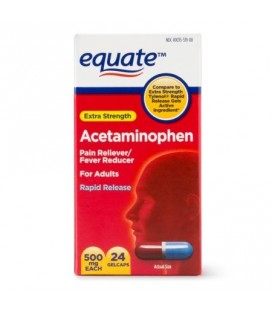 Acetaminophen 24 capsules à action rapide 500 mg