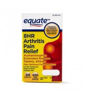 Equate anti douleur à libération prolongée 650 mg 24 Caps