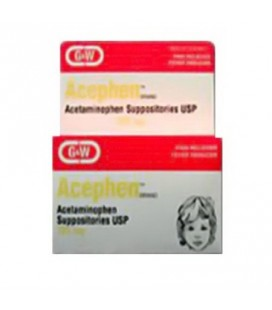 Acephen Acétaminophène 325 mg 50 Suppositoires