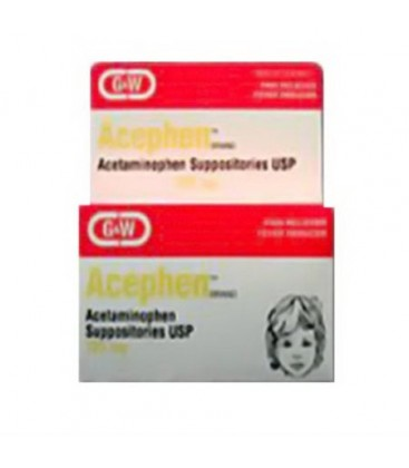 Acephen Acétaminophène 325 mg Suppositoires - 50 Ea