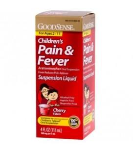 Good Sense Acétaminophène de liquide douleur chez les enfants releveur de suspension orale Cerise 160 mg (4 oz Lot de 6)