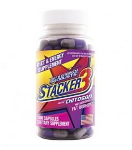 Stacker 3 métaboliser brûleur de graisse avec chitosan, 100 capsules