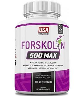 Forskoline Extrait pur pour la perte de poids et d'appétit, du métabolisme Booster, Bloqueur de Glucides et Belly Fat Burner par