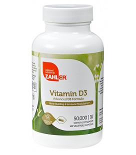 Vitamin D3 50,000IU 120 Capsulses Zahler