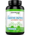 Enzymes Digestifs et Probiotiques - Aide à la digestion - 180 capsules végétariennes