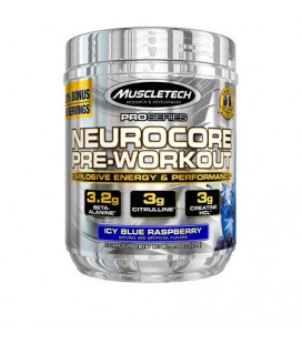 MuscleTech Pro Series Neurocore Pre Workout en poudre framboise bleue 40 Portions