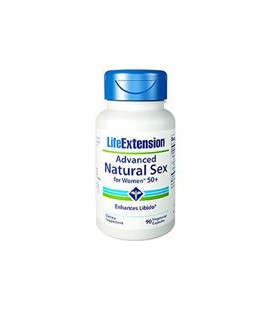 Life Extension Advanced Natural Sex pour les femmes 50- 90 Veggie Caps