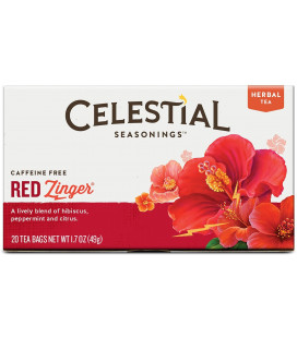 Celestial Seasonings thé décaféiné Tisane Red Zinger 20 ch (Pack de 6)