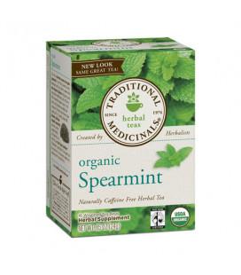 TRADITIONAL MEDICINALS caféine menthe verte à base de plantes Thé bio Sacs - 16 Ea