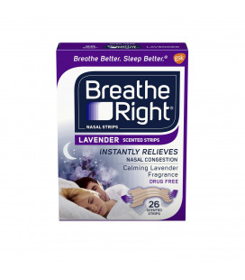 Breathe Right bandes nasales pour arrêter de ronfler sans drogue lavande Calmer 26 count