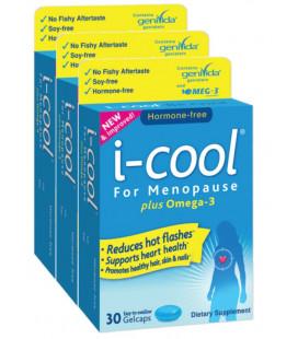 (3 Pack) i-cool pour la ménopause - Omega-3 Gelcaps 30 Ct