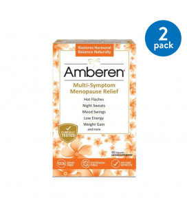 (2 Pack) AMBEREN Multi-Symptom Relief ménopause capsules 60 count