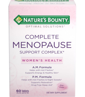 Nature's Bounty Optimal Solutions ménopause Soutien complexe 60 count