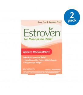 (2 Pack) Estroven Gestion du poids Ménopause Relief Capsules 30 Ct