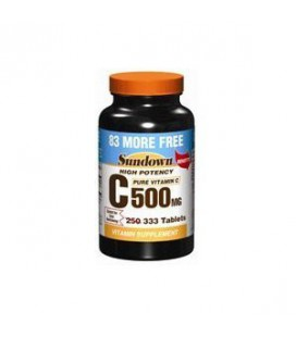 Sundown Vitamin C or Ascorbic Acid 500 Mg Tablets - 250+83 E