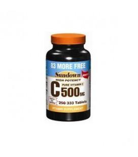 Sundown Vitamin C or Ascorbic Acid 500 Mg Tablets - 250+83 E