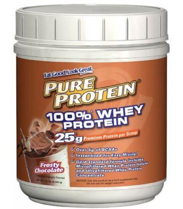 Pure Protein 100% Whey Powder Frosty Chocolate  1 pound tub