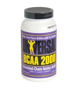 Universal BCAA 2000 Pure Capsules, Free Form BCAAs with Co-F