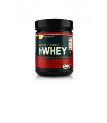 Optimum Nutrition 100% Whey Protein, Vanilla Ice Cream, 1 Po