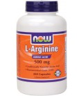 NOW Foods Arginine 500mg, 250 Capsules