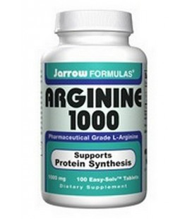 Jarrow Formulas L-Arginine 1000mg, 100 Tablets