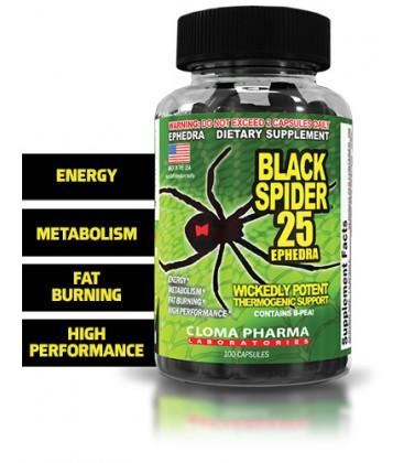 Black Spider 25 mg Ephedra - 100 capsules