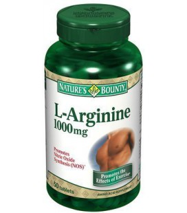 Nature's Bounty L-Arginine 1000mg Tablets, 50-Count
