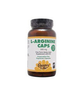 Country Life - L-Arginine Caps, 500 mg, 100 capsules